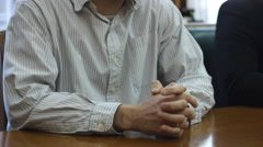 A man in a shirt in the office Stock Footage