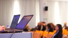Presentation on lap top Arkistovideo