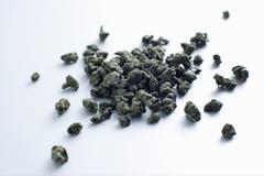 Close up of pile of tea with ginseng Stock Photos