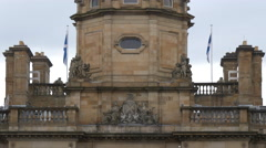 Close up of the Bank of Scotland in Edinburgh Stock Footage