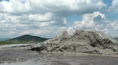 Muddy Volcanoes Reservation in Romania - Buzau - Berca Stock Footage