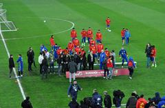 National football team of Spain during a photo session in the stadium Kuvituskuvat