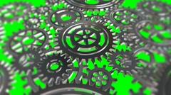 Rotating metal gears loop Stock Footage