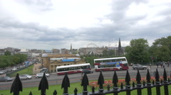 Part of the city center seen from New College, Edinburgh Stock Footage