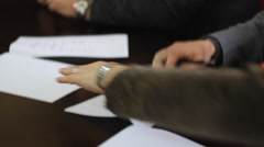 Sign the contract papers  Stock Footage
