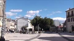 Historic center of Isernia, Molise Stock Footage