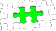 Animated Puzzles Stock Footage