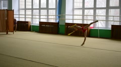 Stock Video Footage of The open championship of the city on rhythmic gymnastics