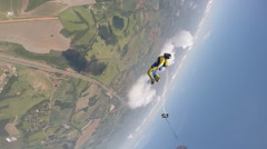 Skydiver wing suit Stock Footage