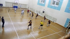 Russia, Novosibirsk. 21 october 2015. High School Volleyball game. Volleyball Stock Footage