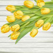 Bouquet of yellow tulips. EPS 10 - stock illustration
