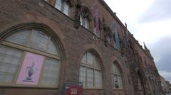 The Scottish National Portrait Gallery on Queen Street in Edinburgh Stock Footage