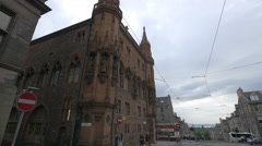 Scottish National Portrait Gallery seen from North Clyde street lane, Edinburgh Stock Footage