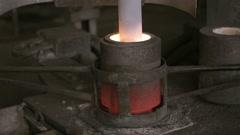 Melting metall on metallurgy factory - stock footage