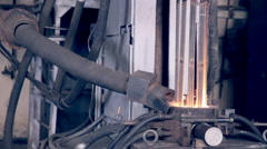 Metal production on metallurgy factory Stock Footage