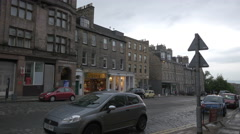 Driving a car on Frederick street, near the Frederick House Hotel, Edinburgh Stock Footage