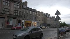 Driving a car on Frederick street, near the Frederick House Hotel, Edinburgh - stock footage