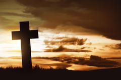Wooden christian cross Stock Photos