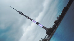 Ostankino Tower, Moscow, Russia Stock Footage