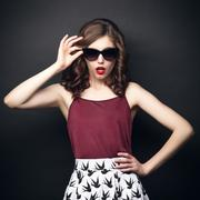 Girl in sunglasses - stock photo