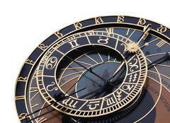 Detail of astronomical clock - stock photo
