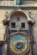 Astronomical clock of Prague Stock Photos