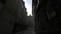Old buildings located on Old Fishmarket Close in Edinburgh - stock footage