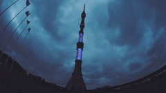 Ostankino Tower, Moscow, Russia - stock footage