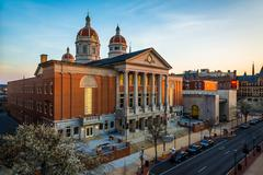 View of the York County Courthouse, in York, Pennsylvania. Stock Photos