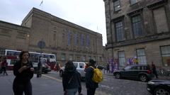 National Library of Scotland seen from Victoria street, Edinburgh - stock footage