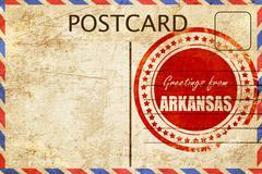 Vintage postcard Greetings from arkansas Stock Illustration