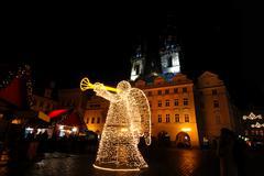 Christmas Prague - stock photo