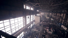 Plant at an heavy industrial factory Stock Footage