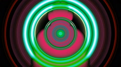 Party Dancer In Green Beat Circle Vj Loop Stock Footage