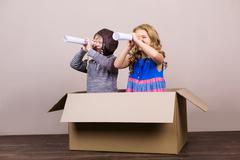 Nice concept for childhood dreams - stock photo