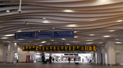 New Street rail station entrance in Birmingham, England. Stock Footage