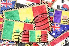 Senegal vintage  postal stamp - stock illustration