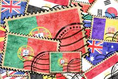 Portugal vintage  postal stamp - stock illustration