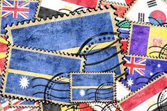 Nauru vintage  postal stamp - stock illustration