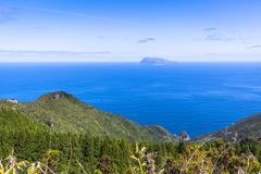 Landscape of the island of Flores. Azores, Portugal Stock Photos