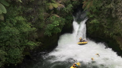 Time lapse of rafting new zealand's kaituna river Stock Footage