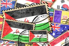 Western sahara vintage  postal stamp - stock illustration