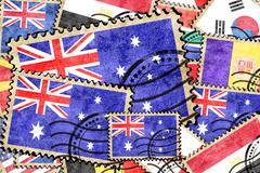 Australia vintage  postal stamp Stock Illustration