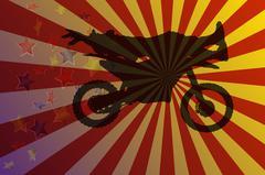 Motocross Stock Illustration