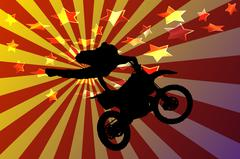 motocross - stock illustration
