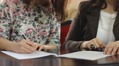 Sign the contract  documents Stock Footage