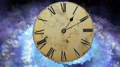 Concept of space and time. Concept Alarm flies into the center of the galaxy Stock Footage