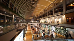 Time lapse footage of Marina Bay Sands shopping mall. Stock Footage