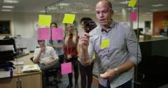 4k, Multi-ethnic creative business team brainstorming ideas together Stock Footage