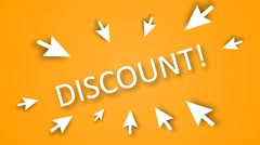 "Emphasis on the word ""DISCOUNT!"" discounts Warning Stock Footage"